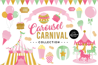 Carousel Carnival Graphics & Patterns Bundle