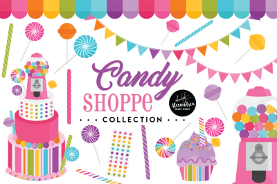 Candy Shoppe Graphics & Patterns Bundle