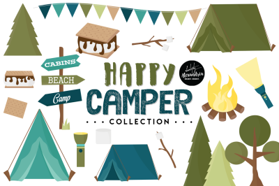 Happy Camper Graphics & Patterns Bundle