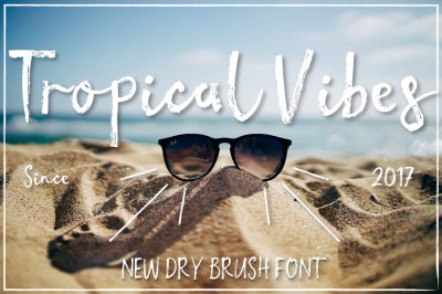 Tropical vibes - Dry brush font