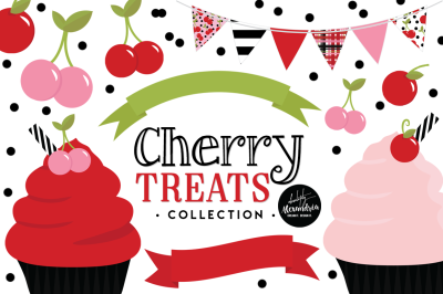 Cherry Treats Graphics & Patterns Bundle