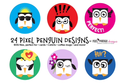 Pixel Penguin EPS/SVG files