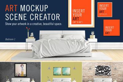 Art Mockup Scene Creator - Bed 1