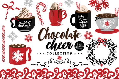 Chocolate Cheer Graphics & Patterns Bundle