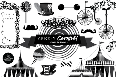 Creepy Carnival Graphics & Patterns Bundle