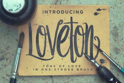 Loveton Brush Script Typeface