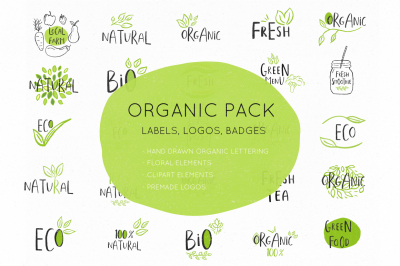 Organic and eco-friendly labels