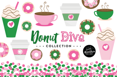 Donut Diva Graphics & Patterns Bundle