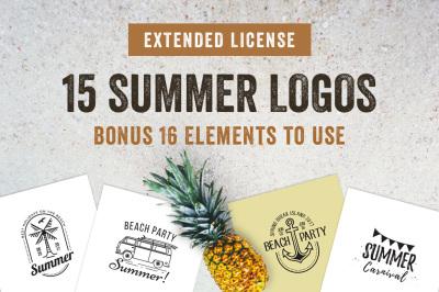 15 Summer Badges & Labels