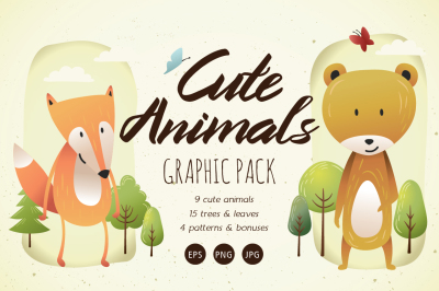 Cute Animals Graphic Pack