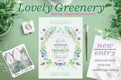 Lovely Greenery Wedding Card II