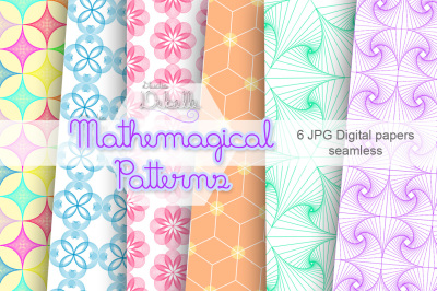MATHEMAGICAL - DIGITAL PAPERS SEAMLESS PATTERNS