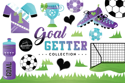 Goal Getter Graphics & Patterns Bundle