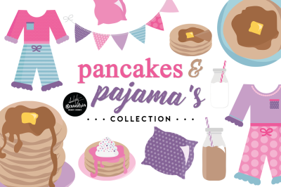Pancakes & Pajama's Graphics & Patterns Bundle