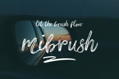 mibrush-brush font
