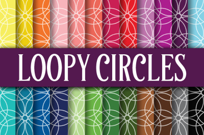 Loopy Circles Digital Paper