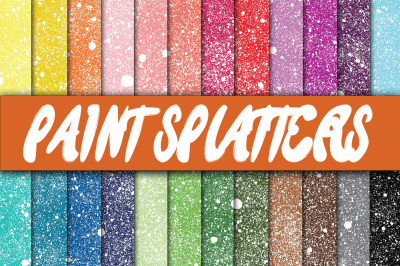 Paint Splatters Digital Paper Textures