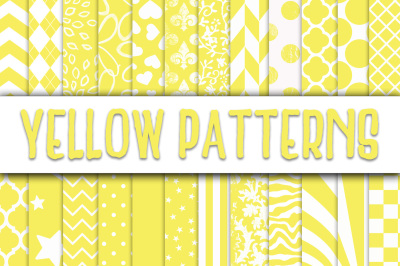 Yellow Patterns Digital Paper