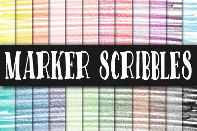 Marker Scribbles Digital Paper