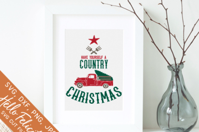 Have Yourself A Country Christmas SVG Cutting Files