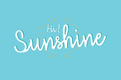 Hi Sunshine | Script font