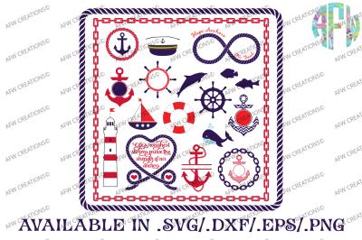 Nautical Bundle - SVG, DXF, EPS Cut Files