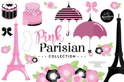 Pink Parisian Graphics & Patterns Bundle