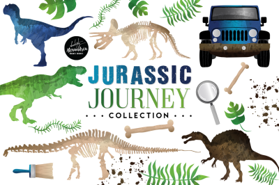 Jurassic Journey Graphics & Patterns Bundle