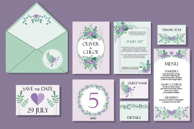 Cute Wedding Vector Set