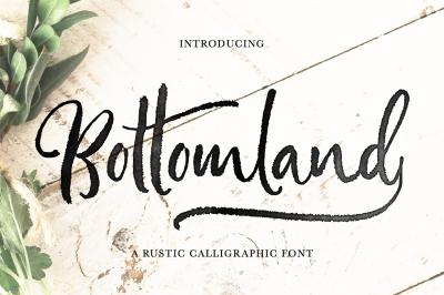 Bottomland • Ink Rustic Script