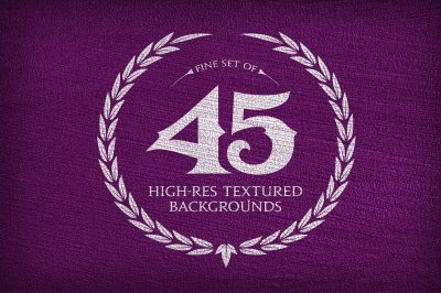 45 His-Res Textured Backgrounds