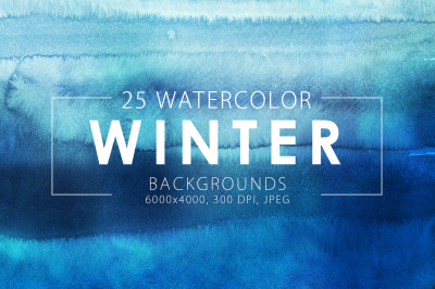 Winter Watercolor Backgrounds