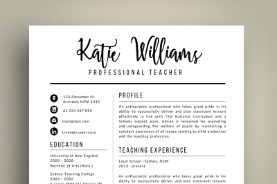 Script 3 in 1 Teacher Resume