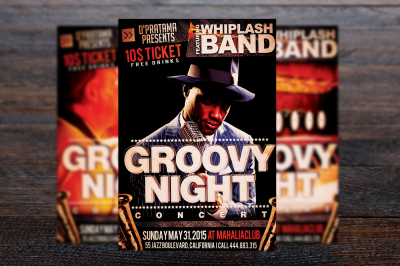 Groovy Jazz Night Music Flyer