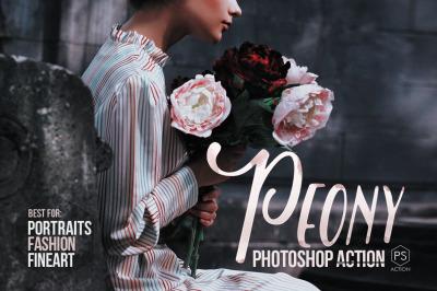 Peony Artistic Photoshop Action