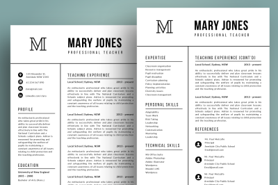2 in 1 resume template pptx