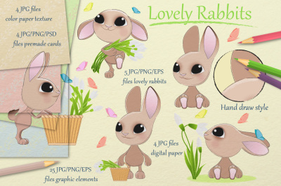 Lovely rabbits collection