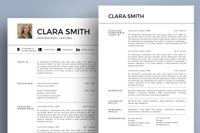 Modern photo resume template pptx
