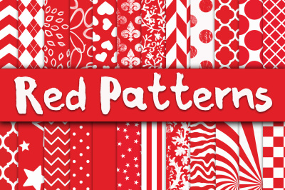 Red Patterns Digital Paper