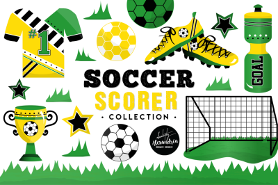 Soccer Scorer Graphics & Patterns Bundle