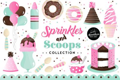 Sprinkles & Scoops Graphics & Patterns Bundle