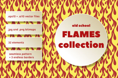 Old School Flames Collection
