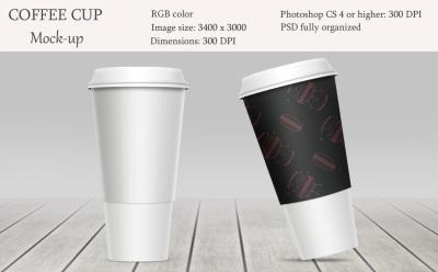 Coffe cup mockup. Package mockup.