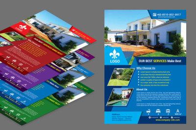 Real Estate Flyer Template 4 Color option