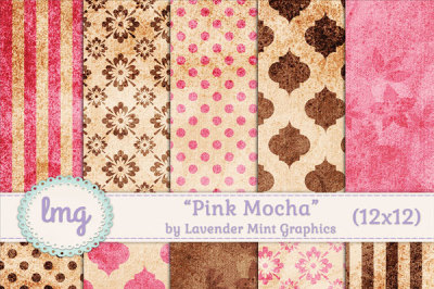 Pink and Brown Scrapbook Paper