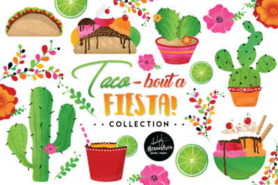 Taco Bout a Fiesta Graphics & Patterns Bundle