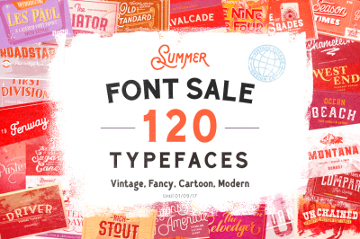 120 in 1 • Font Sale