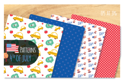 4th of July-8 Patterns set