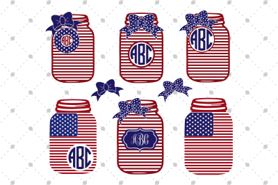 4th of July Mason Jar Files
