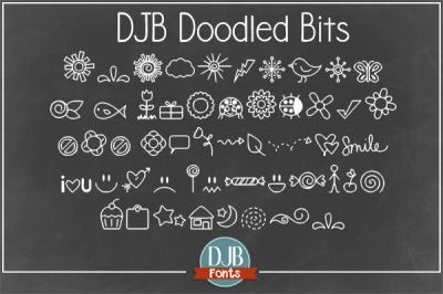 DJB Doodle Bits Font